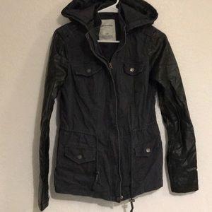 Aeropostale faux leather sleeves anorak